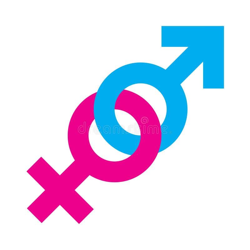 男女平等标志 库存例证