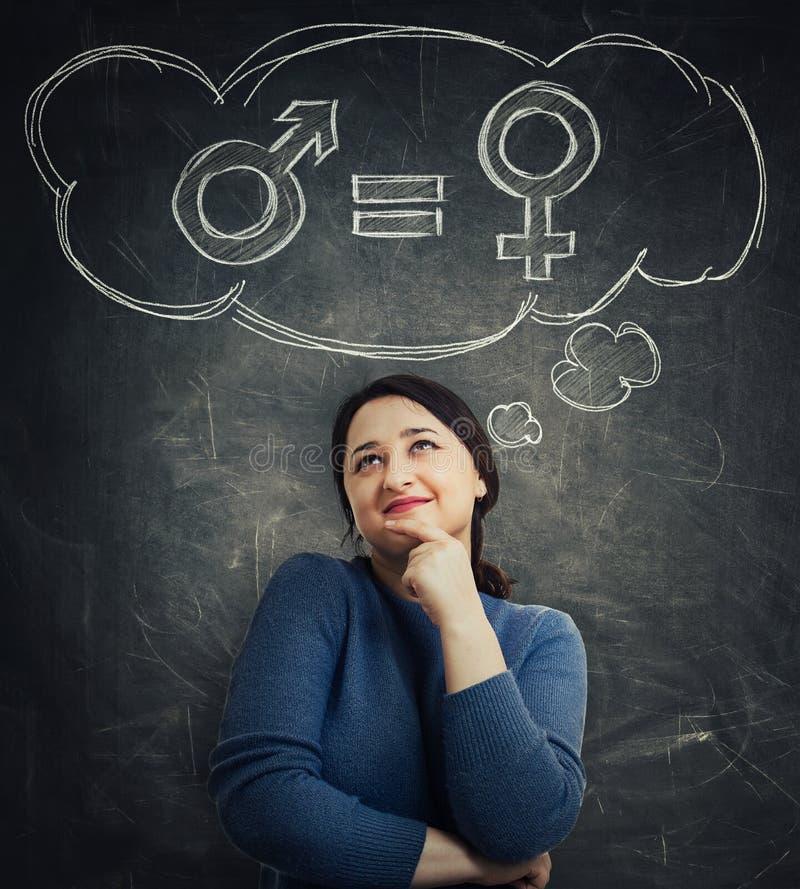 男女平等概念 皇族释放例证
