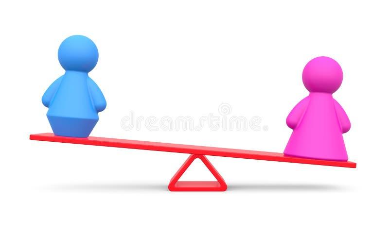 男女平等的抽象概念 向量例证