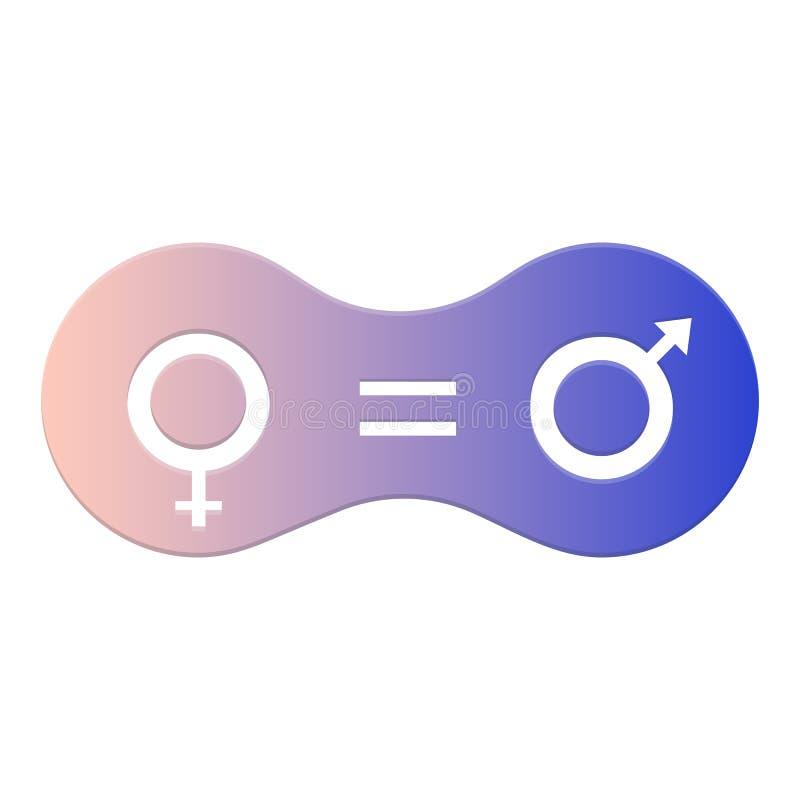 男女平等象 平等、合作、连接、关系人和妇女的标志 皇族释放例证