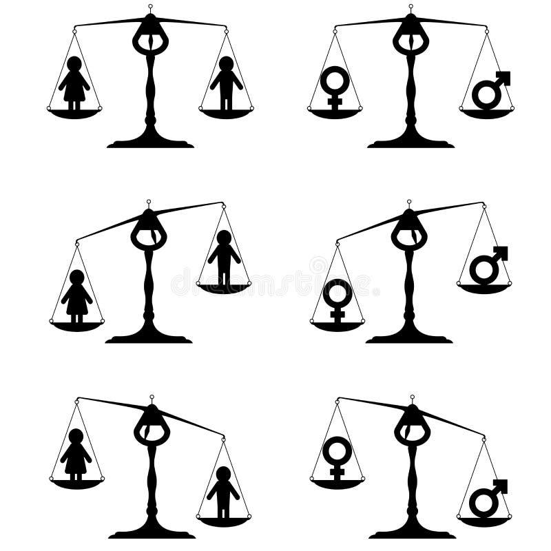 男女平等集合 库存例证