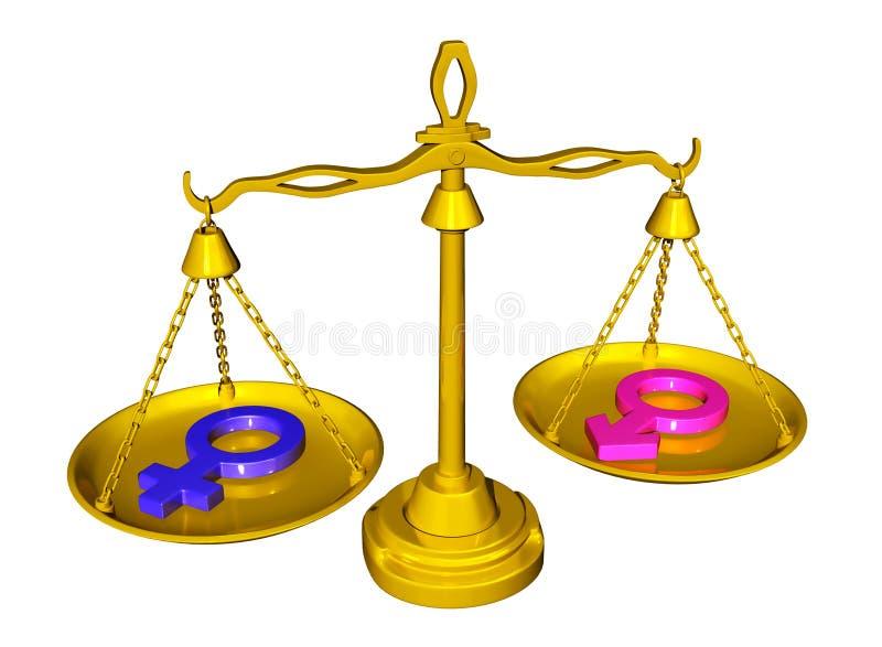 男女平等 向量例证