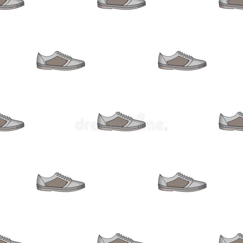 男女皆宜白色的运动鞋系带  鞋子为体育和日常生活 不同的鞋子选拔在动画片样式传染媒介的象 向量例证
