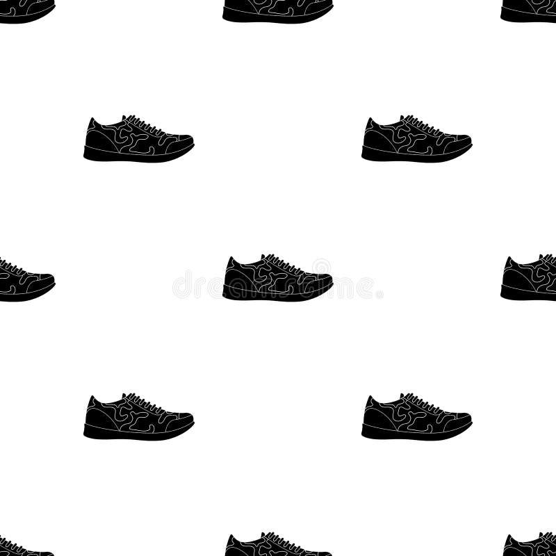 男女皆宜白色的运动鞋系带  鞋子为体育和日常生活 不同的鞋子选拔在黑样式传染媒介的象 向量例证