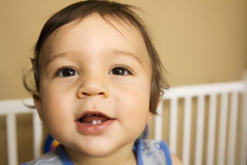 男婴到达 免版税库存照片