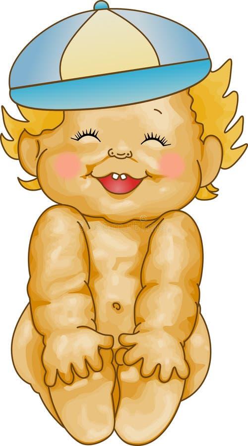 男婴微笑 库存例证