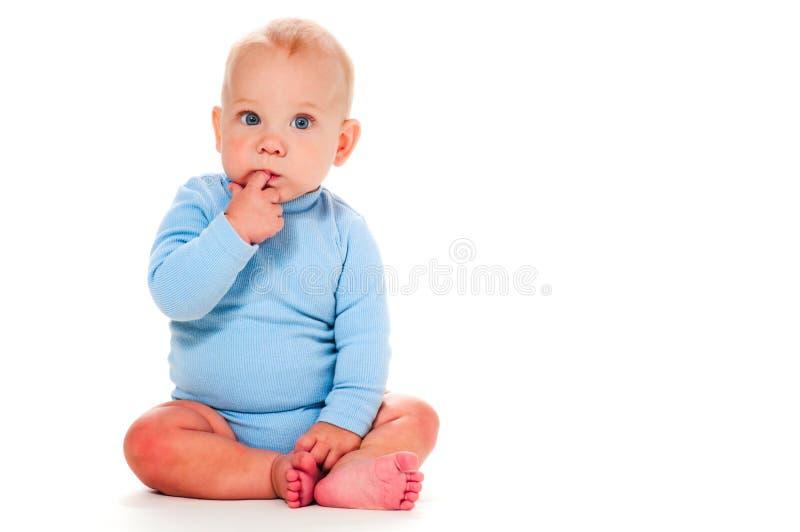 男婴认为 免版税库存照片