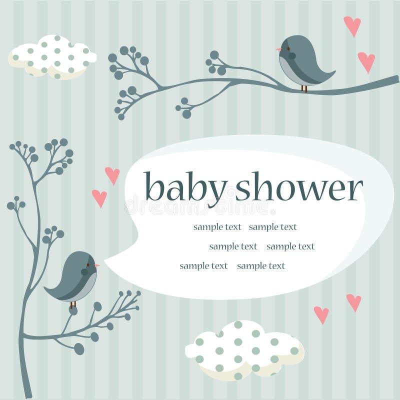 男婴阵雨 向量例证