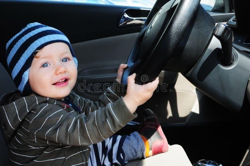 男婴驱动 库存图片