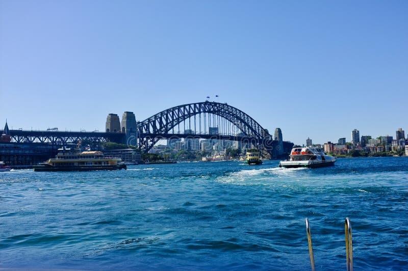 男子气概的轮渡,悉尼港口,澳大利亚 库存照片