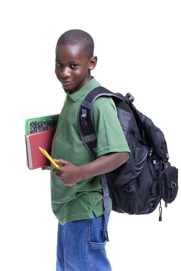 男学生年轻人 免版税库存照片