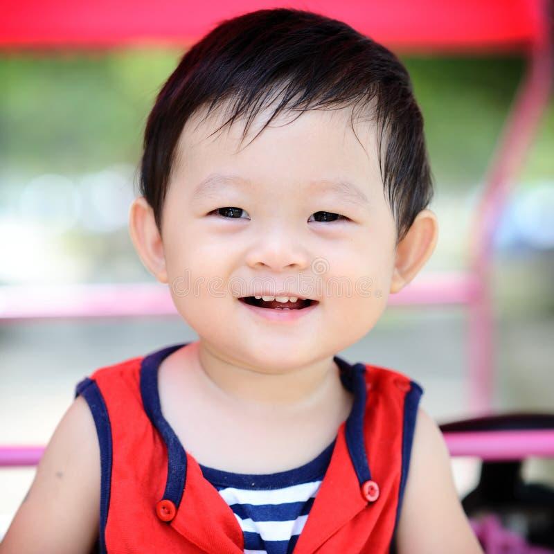 男孩中国逗人喜爱的纵向 免版税库存照片