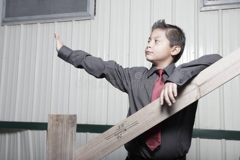 男孩企业英俊的年轻人 免版税库存图片