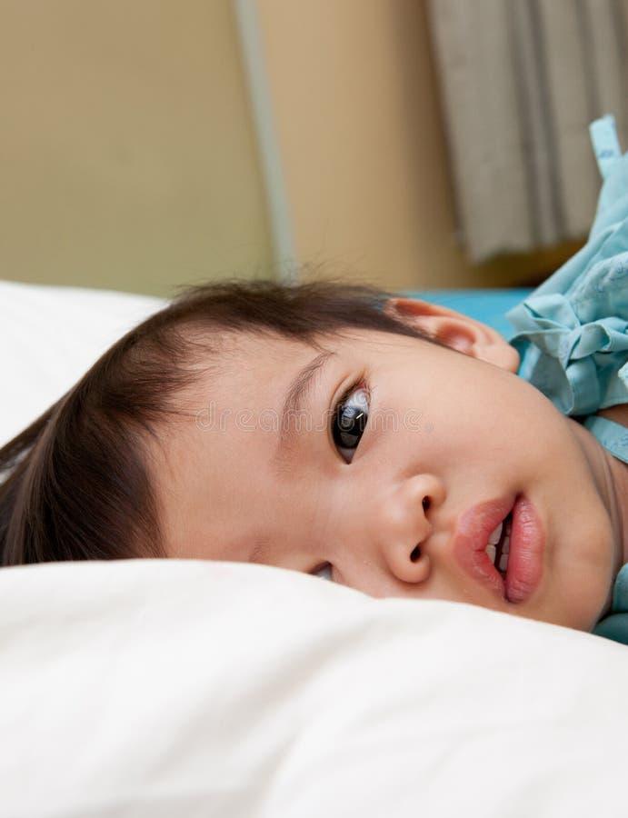 男孩住院病人 免版税图库摄影
