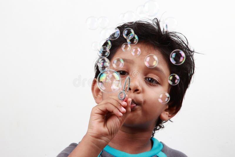 男孩使用 免版税库存图片