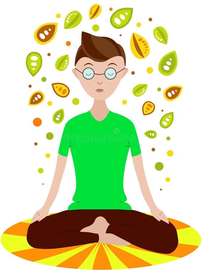 男孩信奉瑜伽者 免版税库存图片