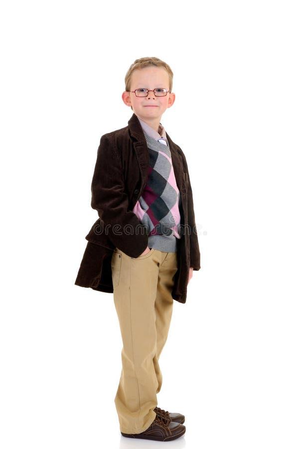 男孩八年的年轻人 免版税库存图片