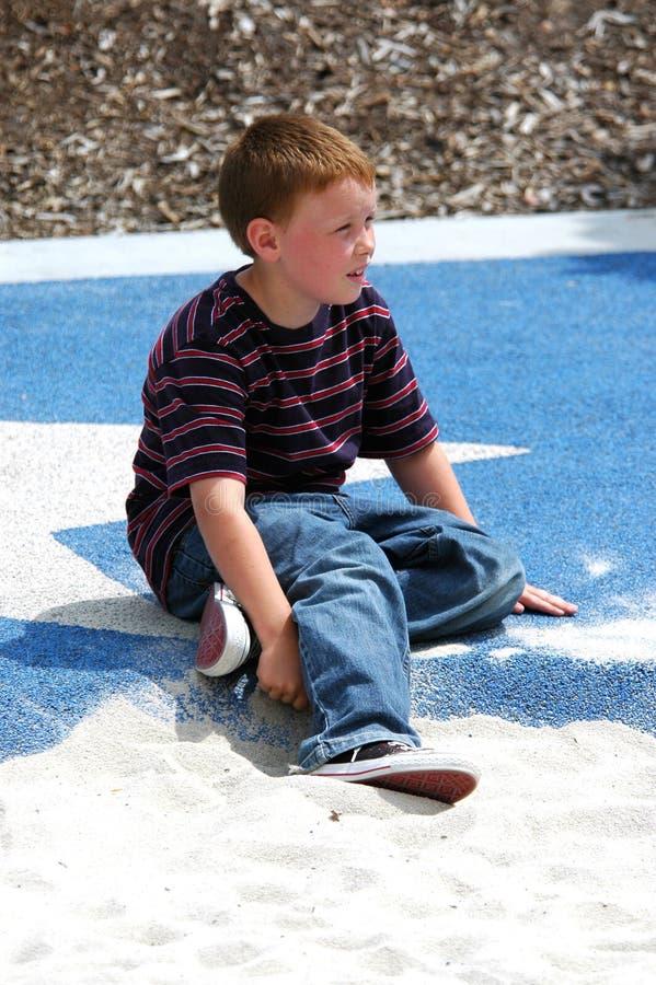 男孩公园年轻人 免版税图库摄影