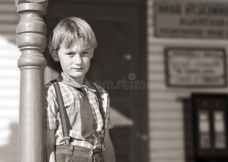 男孩前面界面年轻人 库存照片