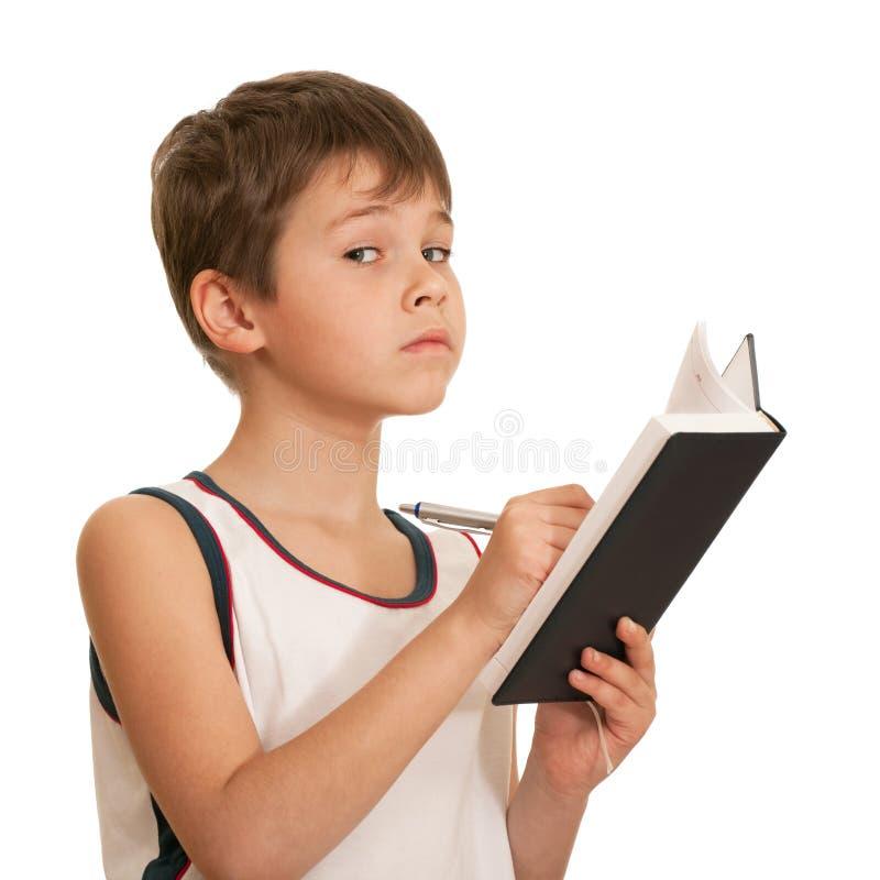 男孩周道的文字 库存图片