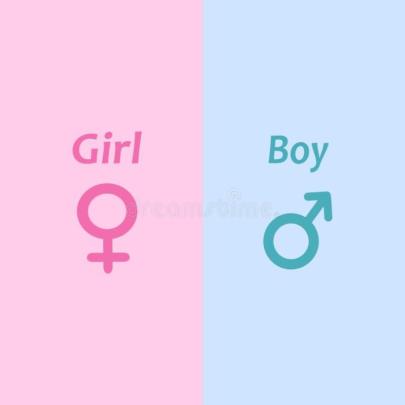 男孩和女孩象 也corel凹道例证向量 10 eps 库存例证