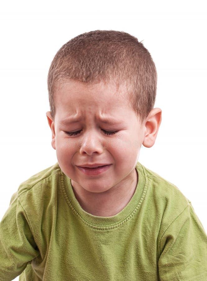 男孩哭泣 免版税图库摄影