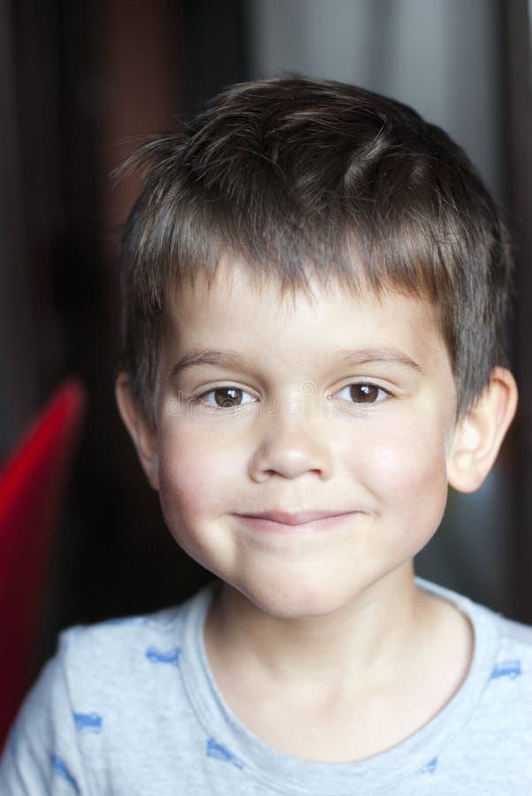 男孩四老微笑的年 免版税库存图片