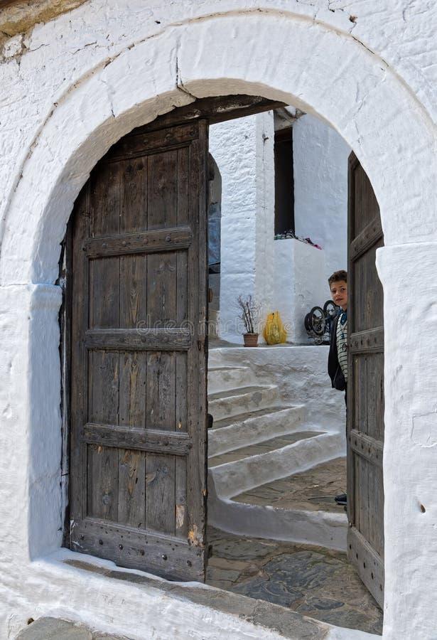 男孩在阿尔巴尼亚 免版税库存图片
