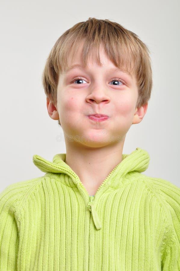 男孩基本表面滑稽做 免版税库存图片