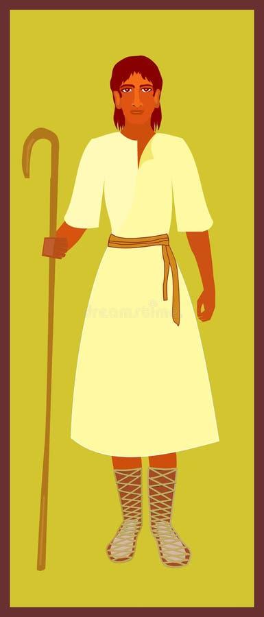 男孩大卫牧羊人年轻人 皇族释放例证
