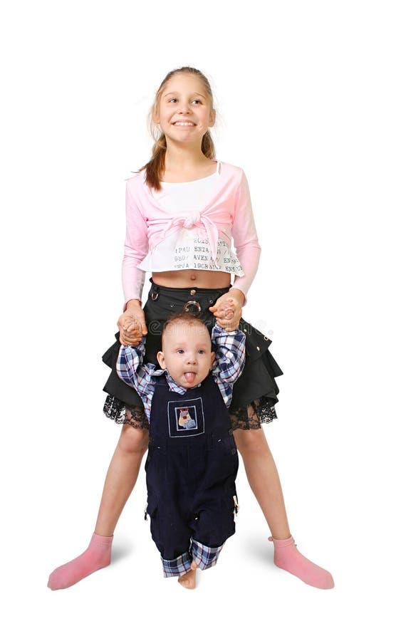 男孩女孩 免版税库存照片