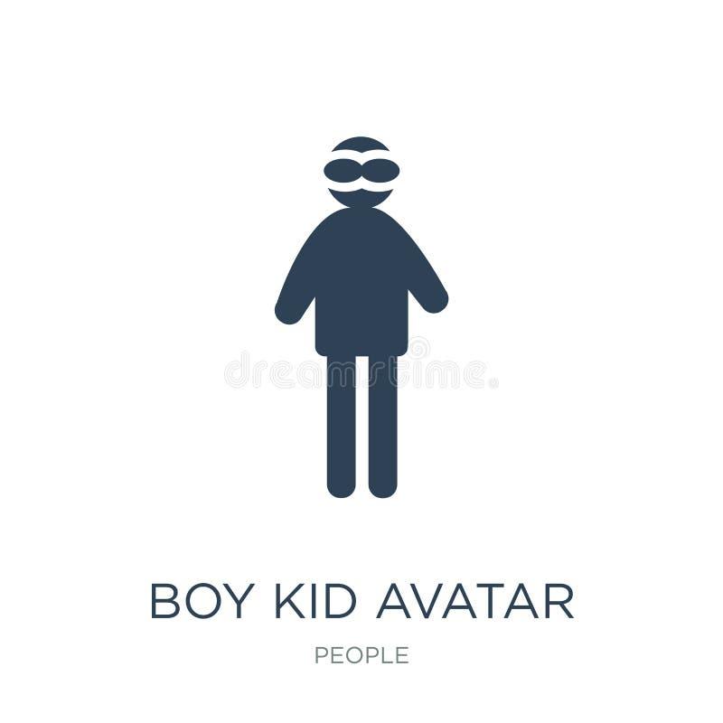 男孩孩子在时髦设计样式的具体化象 男孩孩子在白色背景隔绝的具体化象 男孩孩子具体化简单传染媒介的象 皇族释放例证