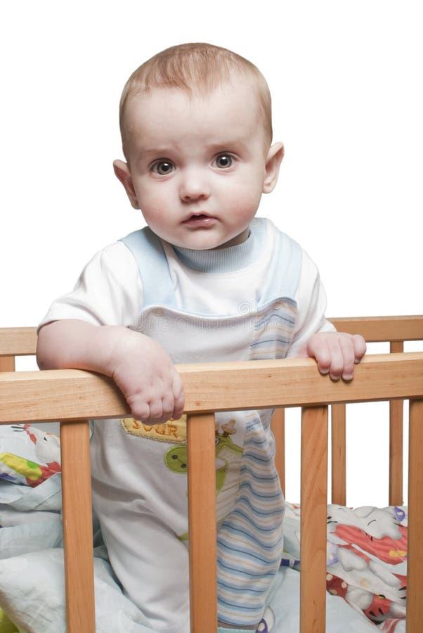 男孩小儿床身分 免版税图库摄影