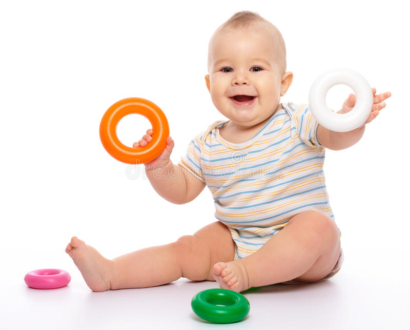 男孩少许作用玩具 库存图片
