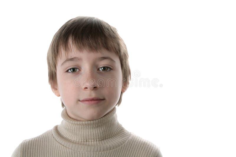 男孩少许纵向 免版税库存图片