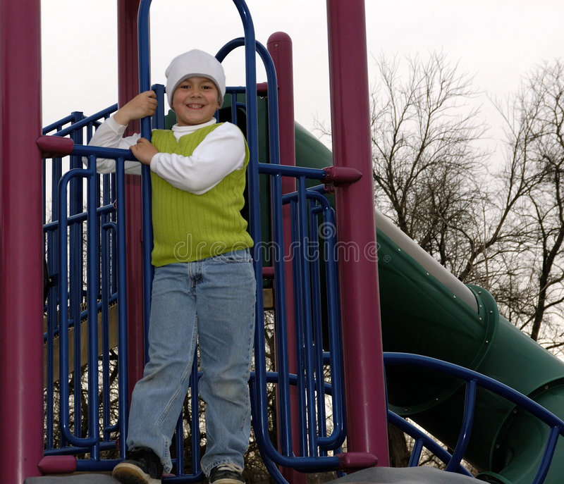 男孩帽子公园袜子白色 免版税库存照片