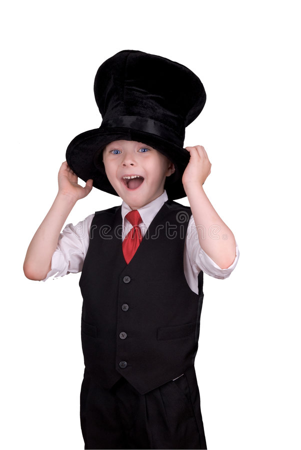 男孩帽子顶层 库存照片