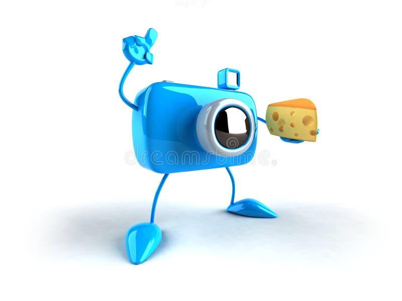 男孩干酪照片说 库存例证