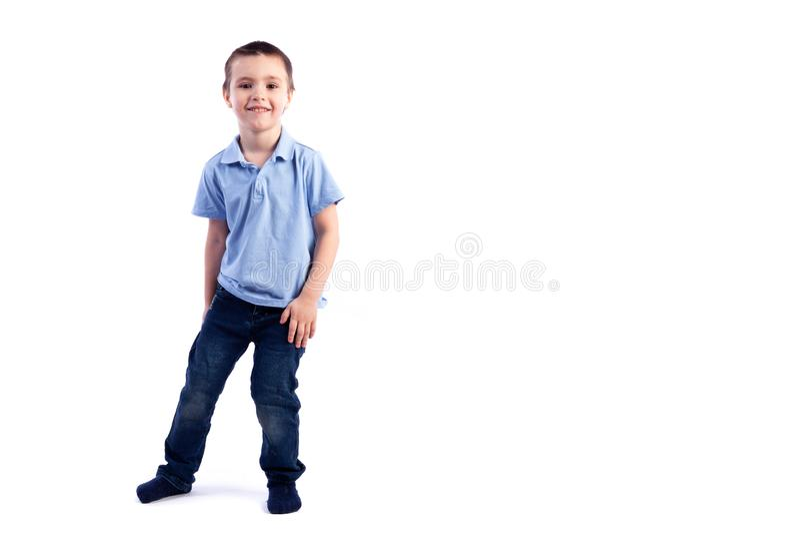 男孩微笑的一点 库存图片