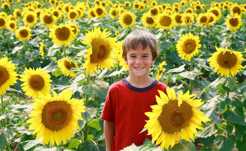 男孩微笑的一点 免版税图库摄影