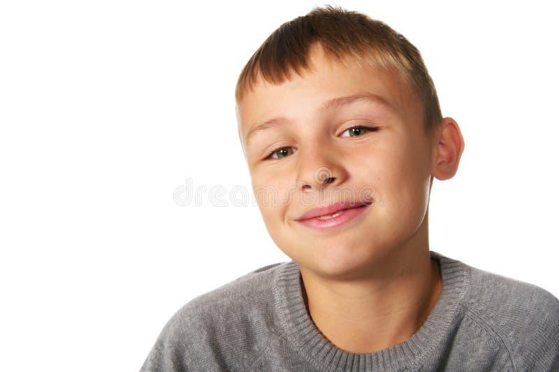 男孩微笑的非离子活性剂 库存图片