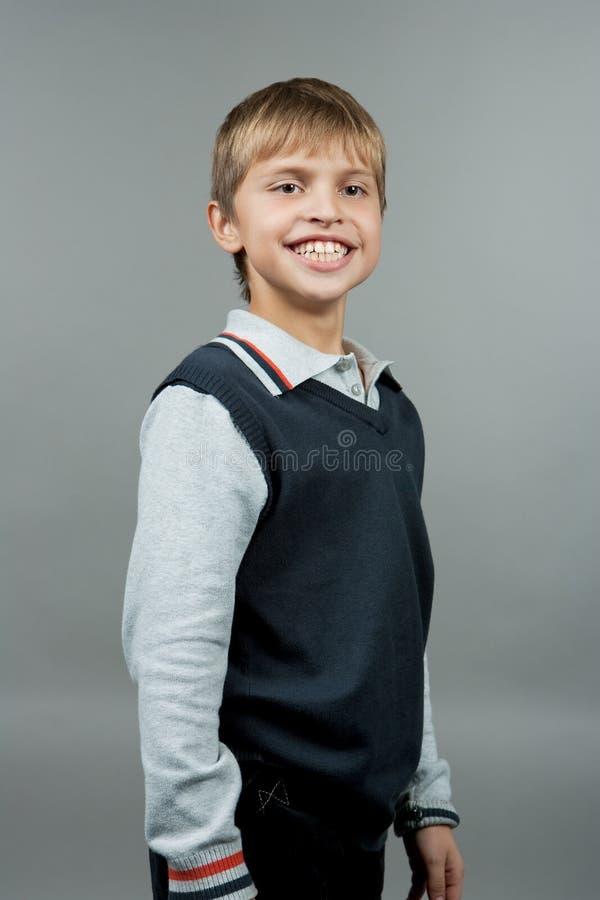 男孩微笑 库存照片