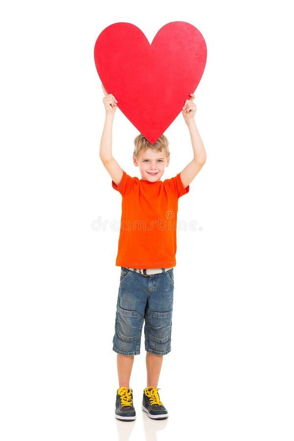 男孩心脏形状 库存照片
