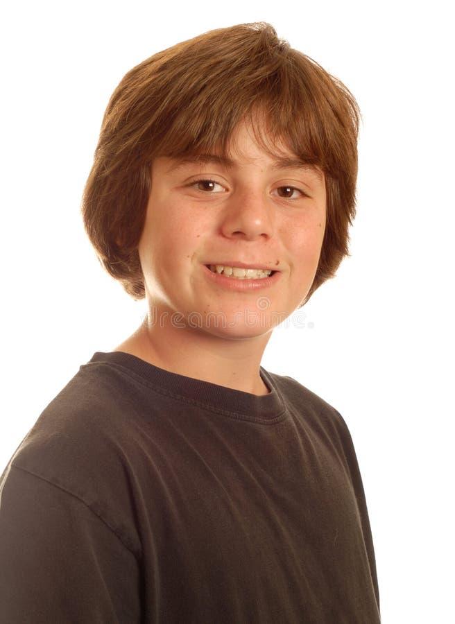 男孩愉快的青少年的年轻人 免版税库存照片