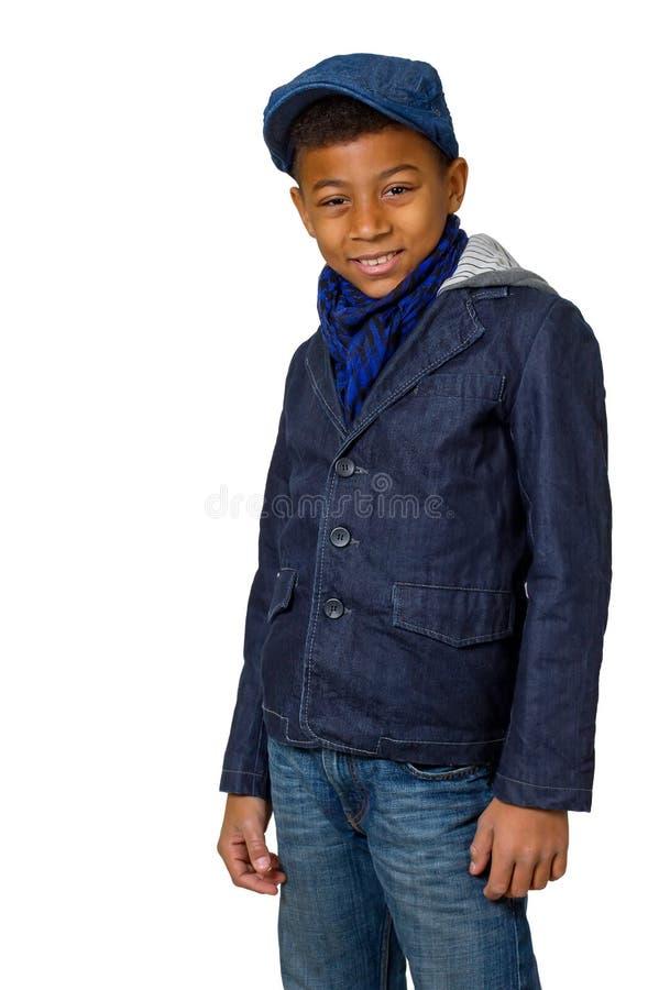 男孩摆在 免版税库存照片