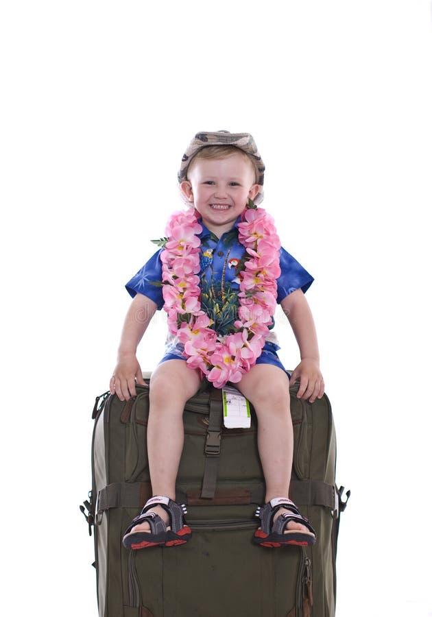 男孩旅行的一点 免版税图库摄影