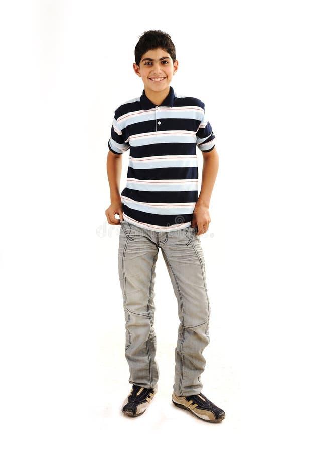 男孩时兴的少年 免版税库存照片