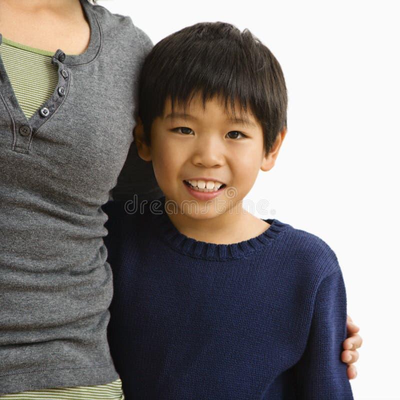 男孩母亲 免版税库存照片
