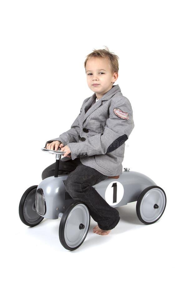男孩汽车一点 图库摄影