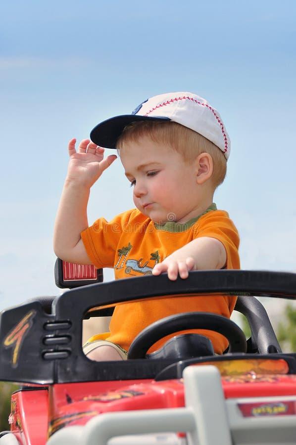 男孩汽车玩具 图库摄影